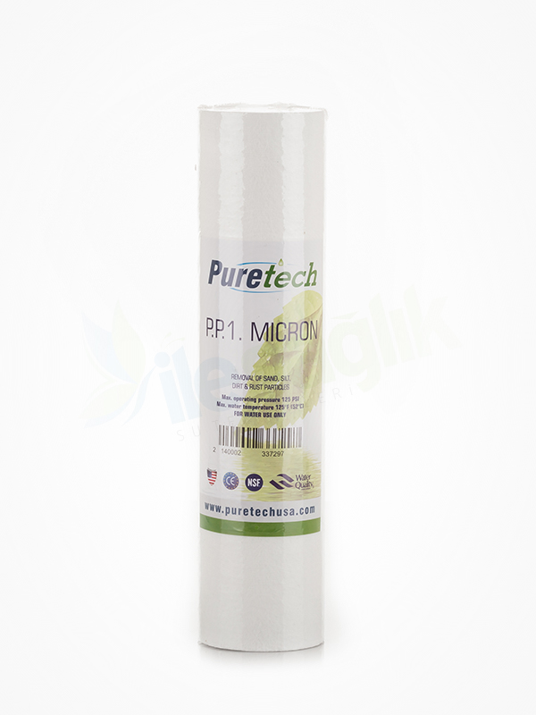 Puretech 10″ 1 Mikron Spun Filtre