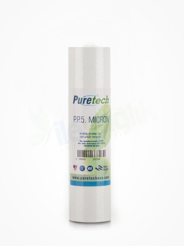 Puretech 10″ 5 Mikron Spun Filtre